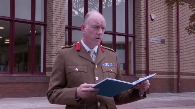 Statements from army officer Brigadier Christopher Coles and Tracy Lewis the sister of Private Sean Benton who died from a gunshot wound at Deepcut...