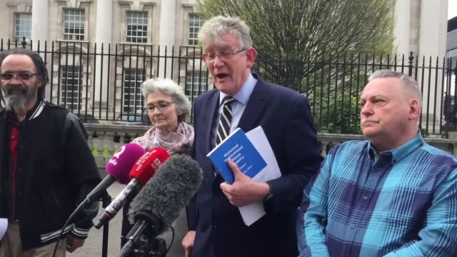 vídeos de stock e filmes b-roll de statements from jon mccourt chairman of the survivors north west group kate mccausland whose 88yearold mother una irvine was abused in the nazareth... - belfast