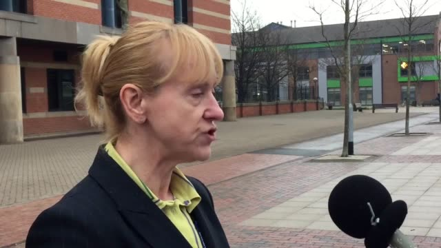 statements outside teesside crown court read by temp det superintendent wendy tinkler on behalf of cleveland police and police investigator paul... - murder victim stock videos & royalty-free footage