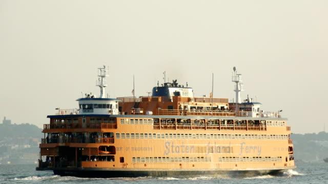 staten island ferry, manhattan – new york city - staten island stock videos and b-roll footage