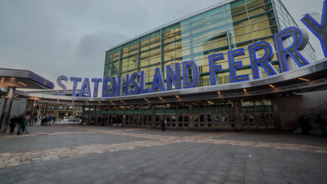 staten island ferry terminal - staten island stock videos and b-roll footage