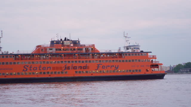 staten island ferry - river hudson stock videos & royalty-free footage