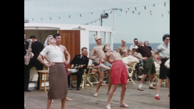 1957 - ss statendam cruise ship - home movie - 1957 stock videos & royalty-free footage