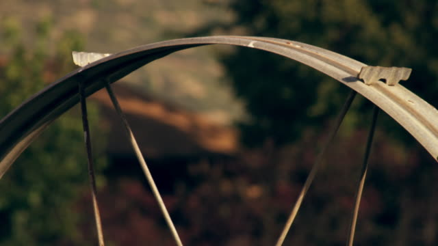 static close-up shot of wheel part of irrigation system - プロボ点の映像素材/bロール