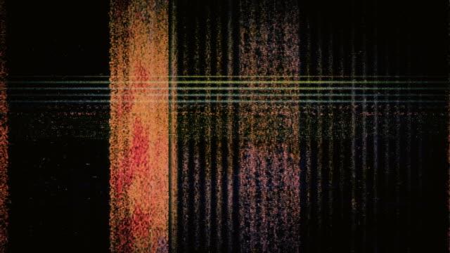 TV static flickers and rolls (Loop).