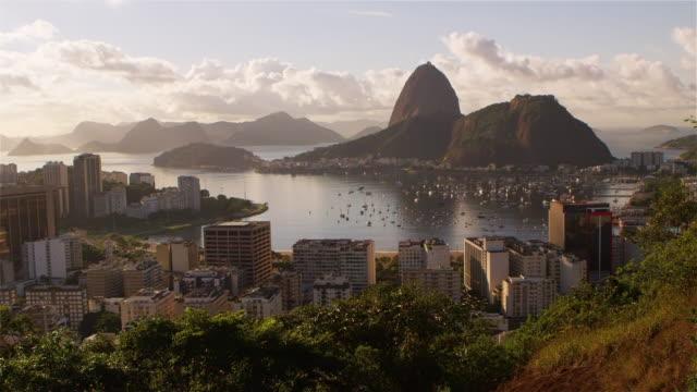 static footage of rio de janeiro, guanabara bay, and sugarloaf. - avenida stock videos & royalty-free footage