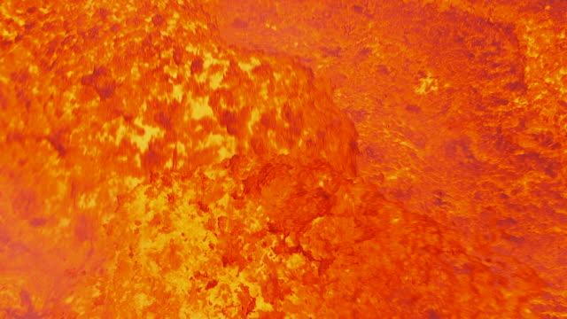 vídeos de stock e filmes b-roll de static full frame shot of broiling lava in a lava lake on ambrym, vanuatu [filmed at 50fps and maintained at half speed]. - lava