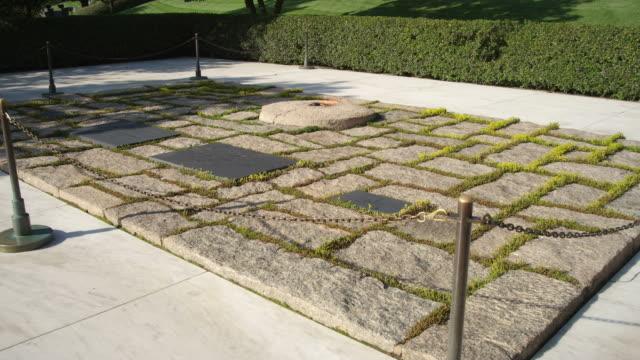 Static JFK gravesite at Arlington National Cemetery, Virginia. Shot in May 2012.