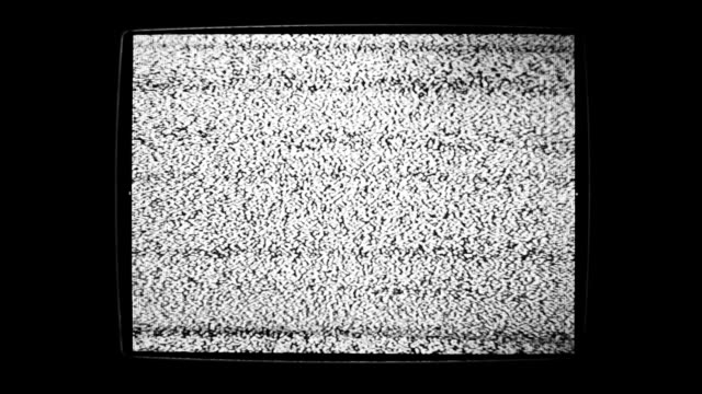 static noise of flickering detuned tv screen - gray color stock videos & royalty-free footage