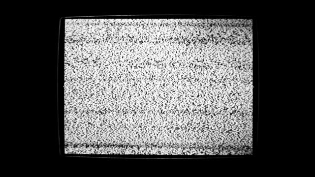 static noise of flickering detuned tv screen - damages television show stock videos and b-roll footage