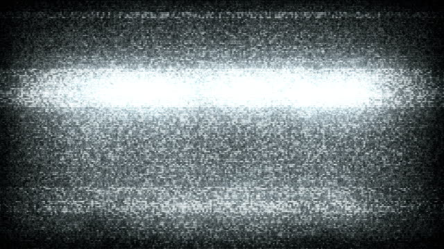 tv static noise with audio - black & white (full hd) - start button stock videos & royalty-free footage