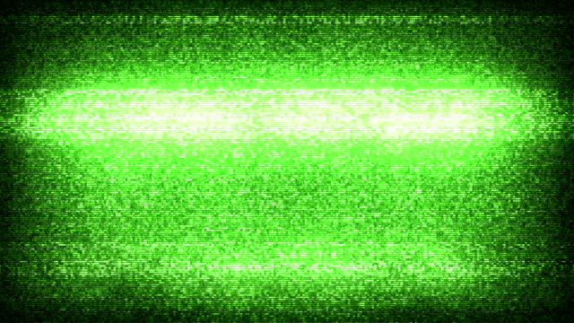 tv statische lärm mit audio-green (full hd) - audio available stock-videos und b-roll-filmmaterial