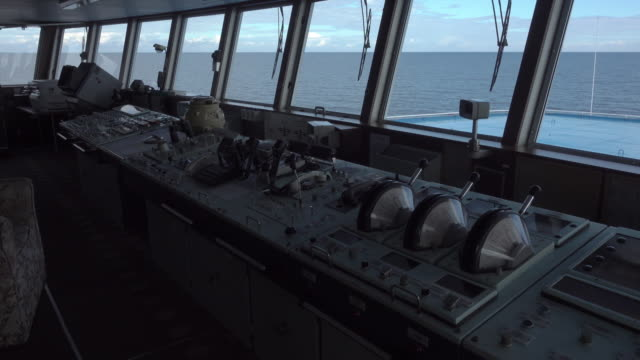 static shot bridge of russian ship - cruise stock videos and b-roll footage