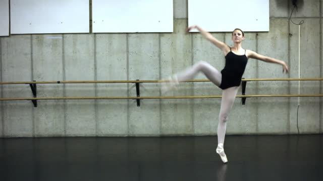 Static shot of a dancing ballerina.