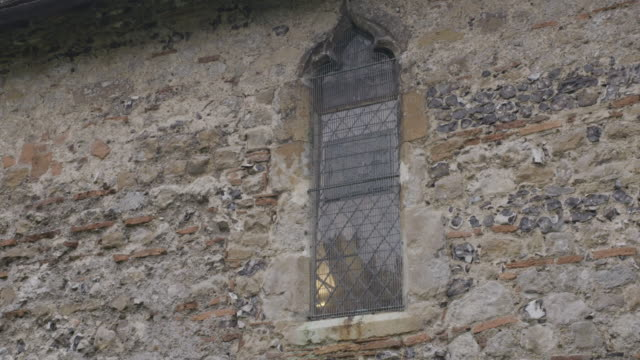 static shot of a stained glass window of the st martins church in canterbury - ornate stock videos & royalty-free footage