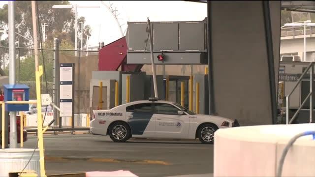 static shot of border patrol vehicle at san ysidro border - baja california norte stock videos & royalty-free footage