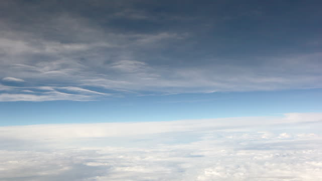 a static shot of clouds moving across a blue sky. - heaven stock videos & royalty-free footage
