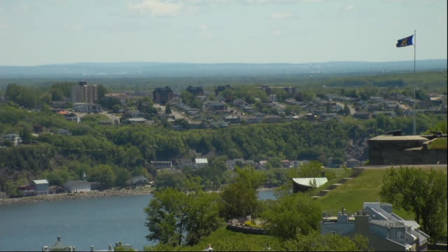 static shot of la malbaie, quebec, canada. la malbaie hosted the 44th g7 summit in 2018. - music or celebrities or fashion or film industry or film premiere or youth culture or novelty item or vacations stock videos & royalty-free footage
