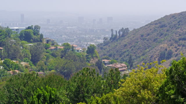 static shot of los angeles from mulholland drive - lockdown stock videos & royalty-free footage