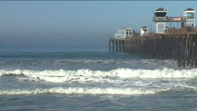 static shot of oceanside pier - oceanside stock videos and b-roll footage