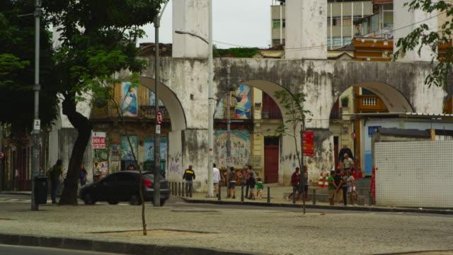 rio de janeiro, brazil - june 23: static shot of street in rio de janeiro on june 23, 2013 - 南アメリカ点の映像素材/bロール
