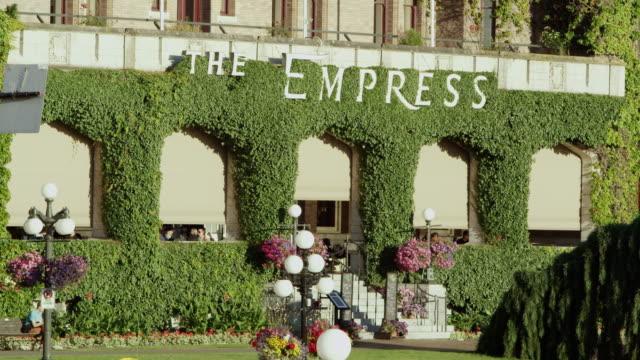 vidéos et rushes de static shot of the empress hotel - façade