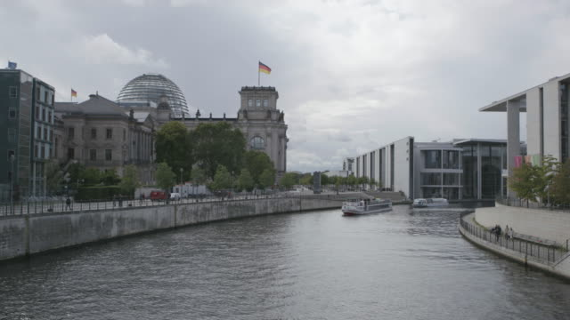 static shot of the reichstag building with the spree river in the foreground - 1933 stock videos & royalty-free footage