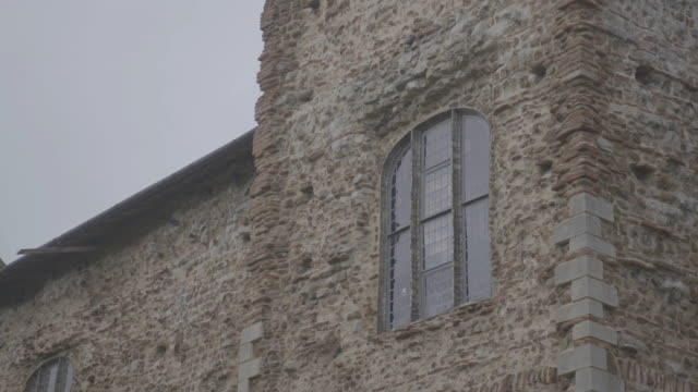 static shot of the south front of the colchester castle - circa 12th century stock videos & royalty-free footage