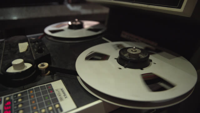 static shot of vintage reel to reel audio equipment playing - nostalgia stock videos & royalty-free footage