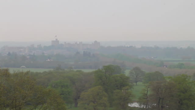 static shot of windsor castle from windsor great park in windsor, united kingdom. - environment or natural disaster or climate change or earthquake or hurricane or extreme weather or oil spill or volcano or tornado or flooding stock videos & royalty-free footage