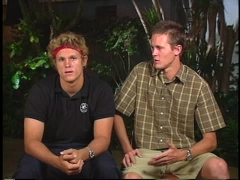 static, sot. in a remote interview from lihue, hawaii, tim and noah hamilton discuss the amazing strength and spirit of their 13 year-old sister,... - kauai stock videos & royalty-free footage