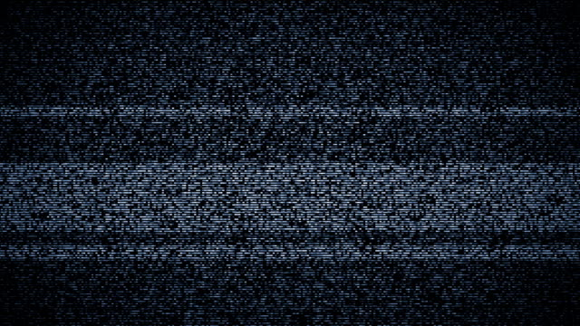 tv static turning on and off with sound - problems stock videos & royalty-free footage