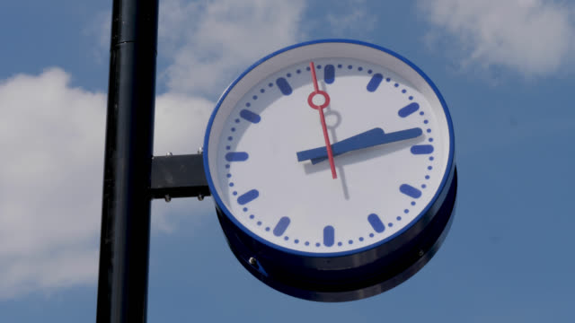 station clock - boxmeer stock videos & royalty-free footage