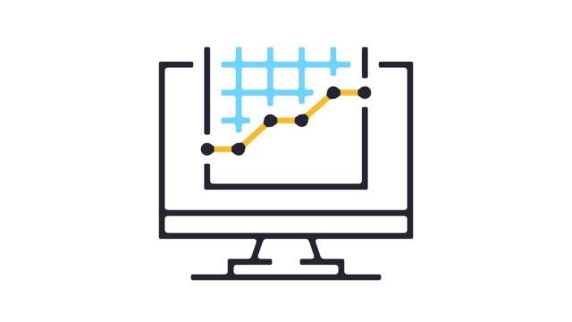 statistics icon animation - illustration stock videos & royalty-free footage