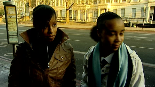 stockvideo's en b-roll-footage met statistics show fall in knife crime reverend les isaac speaking to teenage girls in street sot reverend les isaac interview as along with reporter... - initiatief