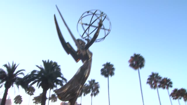 atmosphere statue at 65th primetime emmy awards nominations announcement atmosphere statue at 65th primetime emmy awards at leonard h goldenson... - emmy statue stock-videos und b-roll-filmmaterial