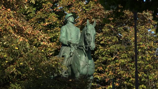 Statue at Promenade du Cours de la Reine, Paris France, Europe