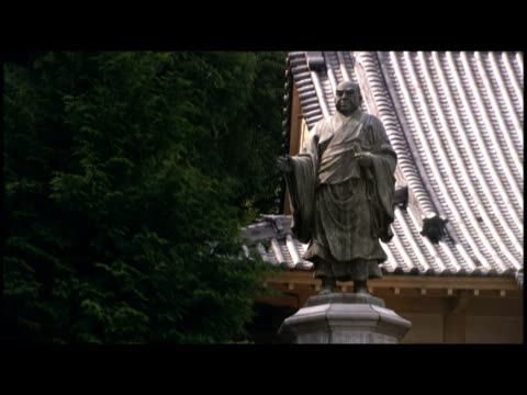 statue at temple  japan - male likeness stock videos & royalty-free footage