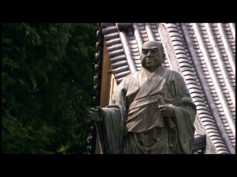 cu statue at temple  japan - male likeness stock videos & royalty-free footage