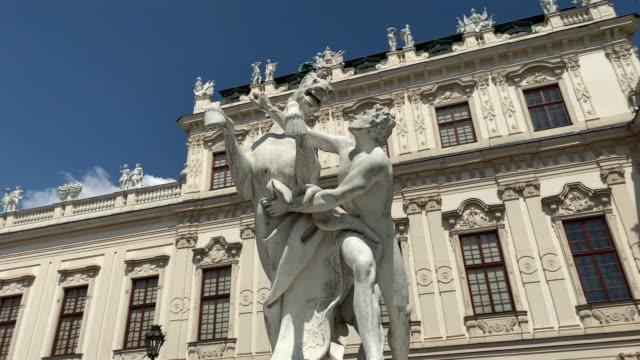 statue belvedere vienna - belvedere palace vienna stock videos & royalty-free footage