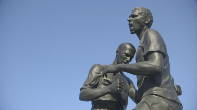 A statue immortalising the headbutt delivered by French football legend Zinedine Zidane to Italian player Marco Materazzi in the 2006 World Cup final...