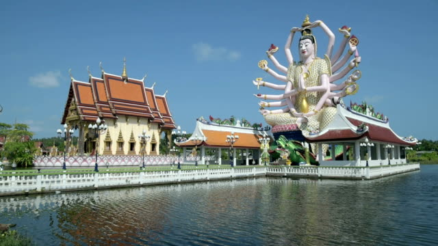 statue of 18 armed guanyin, goddess of mercy - ko samui stock videos and b-roll footage