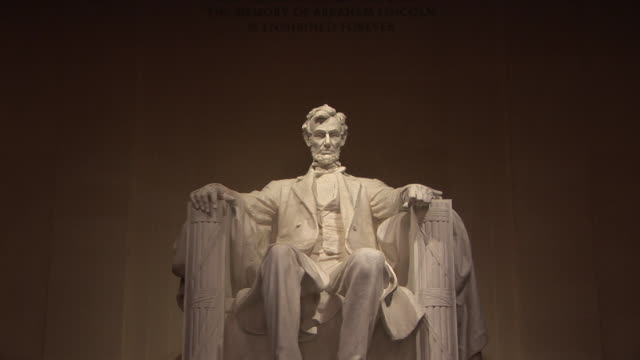 MS, ZI, Statue of Abraham Lincoln, Lincoln Memorial, Washington DC, Washington, USA