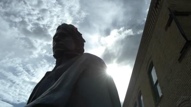 vídeos y material grabado en eventos de stock de statue of andrew jackson. - andrew jackson presidente de los estados unidos