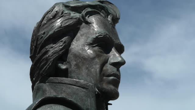statue of andrew jackson. - south dakota stock videos & royalty-free footage