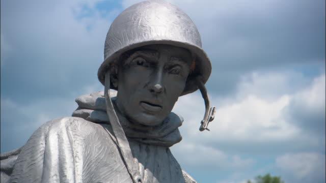 CU, ZI statue of army soldier, Korean War Veterans Memorial, Washington DC, USA