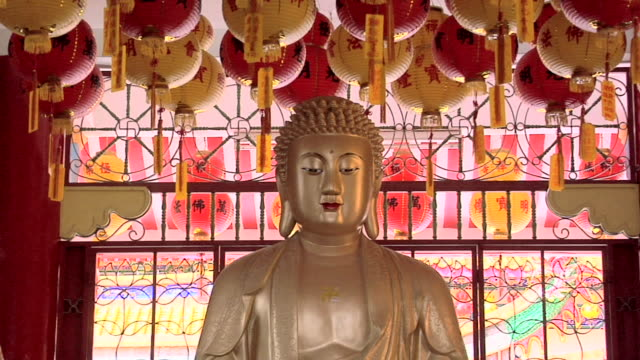 cu zi statue of buddha in kek lok si temple / ayer hitam, penang, malaysia - buddha stock videos and b-roll footage