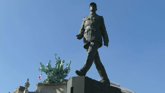 Statue of Charles De Gaulle near Grand Palais, Paris, France, Europe