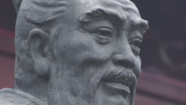 statue of confucius in china - philosopher stock videos & royalty-free footage
