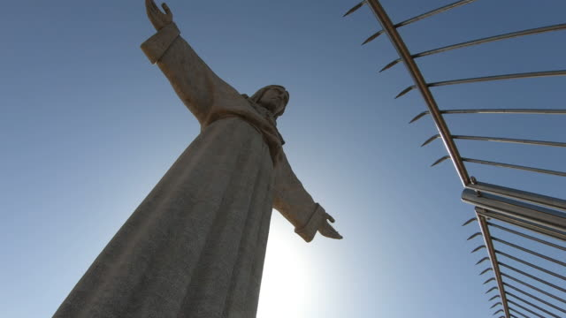 statue of cristo rei - tall high stock videos & royalty-free footage